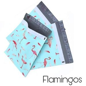 Other - 20 Poly Mailers 10 x 13 inch FLAMINGOS Design